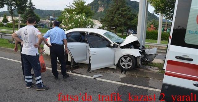 Fatsa'da Trafik Kazası,2 Kişi Ağır yaralı!