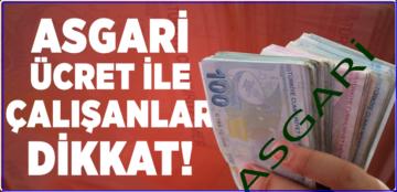 ASGARİ ÜCRETTE ÇETİN PAZARLIK!