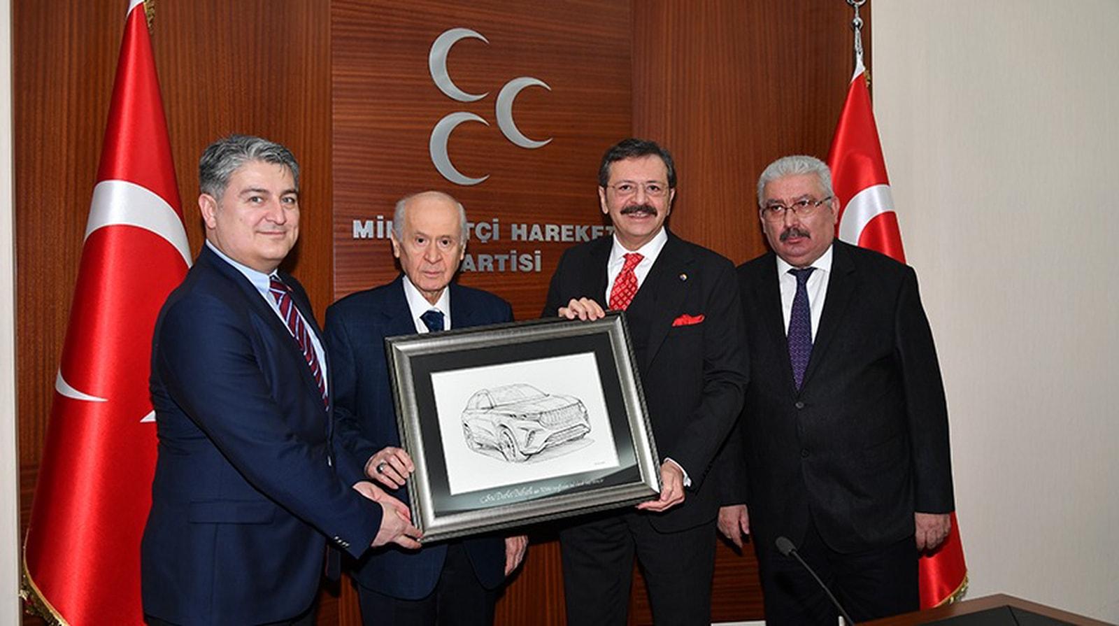 TOGG ÜRETİM EKİBİ MHP'Yİ ZİYARET ETTİ