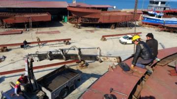 Balıkçı tekneleri Ordu'da üretiliyor