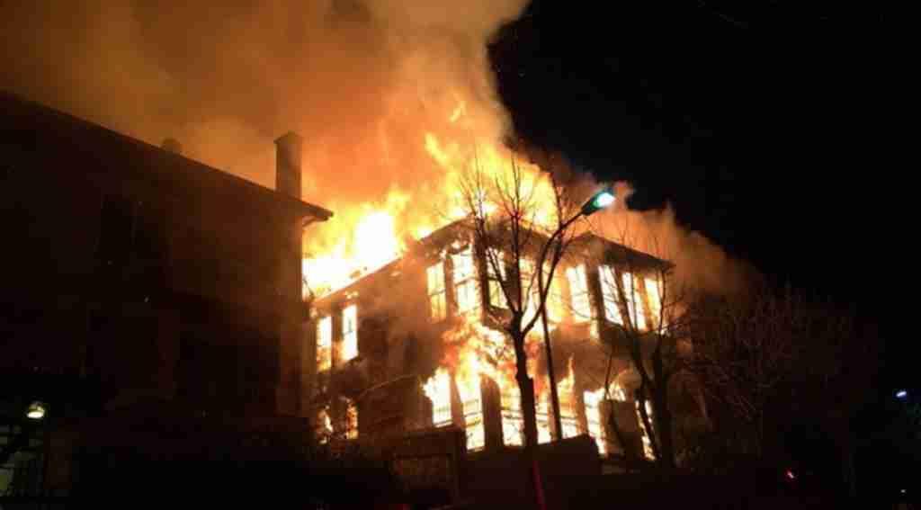 Fatsa Kösebucağı Mahallesinde Yangın