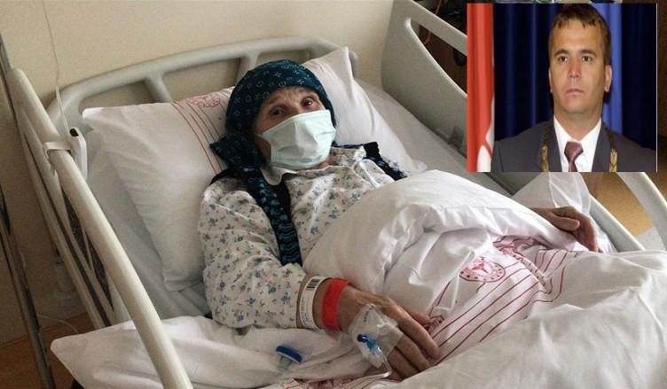 Naim Süleymenoğlu'nun Hasta annesi tedavi için Türkiye'ye getirildi.