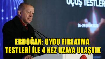 Tayyip Erdoğan: Türkiye'de Uydu fırlatma merkezi kurmaktayız.