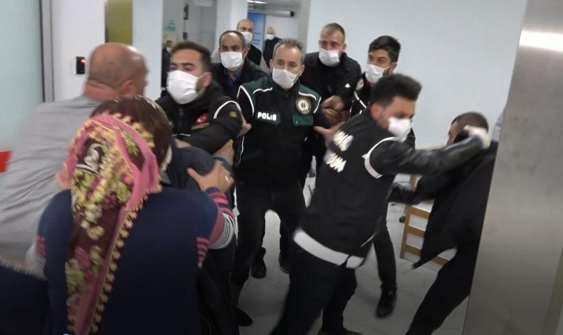 Samsun İlkadım da Hastanede sağlık çalışanına saldırı anı güvenlik kamerasında