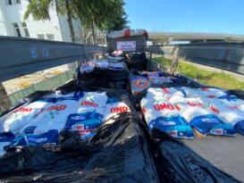 Samsun da 11 ton faturasız taklit temizlik malzemesi ele geçirildi