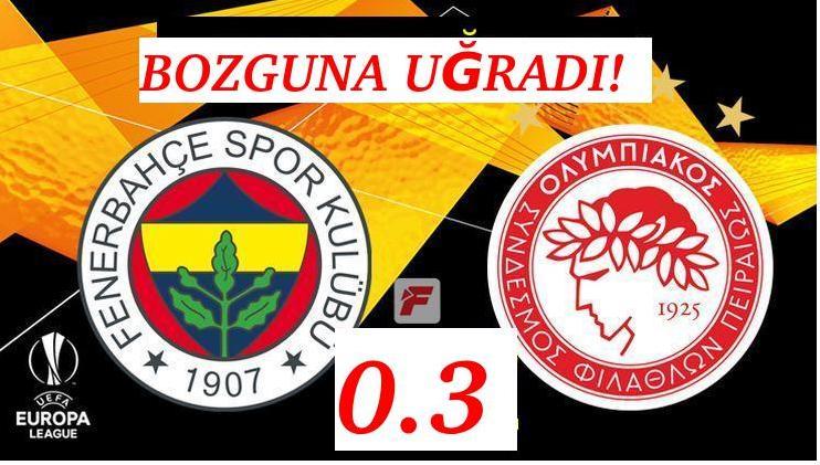 FENERBAHÇE BOZGUNA UĞRADI! 0-3